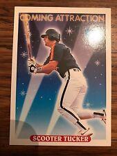 1993 Topps Scooter Tucker Houston Astros 814 RC