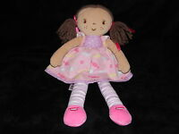 M&S RAG DOLL COMFORTER PINK SWEETS BROWN HAIR RAGDOLL MARKS AND SPENCER