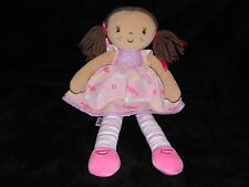 MARKS AND SPENCER DOLL SOFT TOY PINK SWEETS BROWN HAIR RAGDOLL COMFORTER DOUDOU