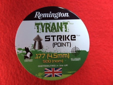 500.177 REMINGTON STRIKE (POINTED) AIR RIFLE PELLETS (1 Tin). NB. Scratched tin