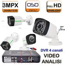 KIT VIDEOSORVEGLIANZA - DVR 5MPX + 4 2400TVL cip SONY + HD SATA