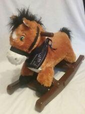 Rockin  rider poney horse,  animated  plush rocking horse, toddler, baby