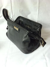 NEW ROWALLAN 7660 BLACK LEATHER WASH BAG FOR MEN TRAVEL BAG MENS TOILETRY BAG