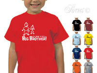 I'M GOING TO BE A BIG BROTHER! DESIGNER T-SHIRT TSHIRT KIDS CHILDRENS AGE 1 - 12
