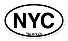 "NYC New York City Oval car window bumper sticker decal 5"" x 3"""