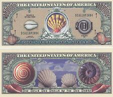 Sea Shells Marine Life Novelty Money Bill # 181