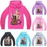 Kids Girls Jojo Siwa Hooded Hoodie Long Sleeve Sweatshirts Pullover Casual Tops
