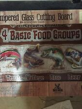 Tempered Glass Cutting Board 12x16 4 Basic Food Groups