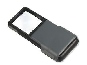 Carson 5x MiniBrite LED Lighted Slide-Out Aspheric Magnifier with Protective ...