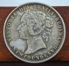 1882 H EF Newfoundland Canada 50 Cent Silver Half Dollar Canadian Coin Lot E18