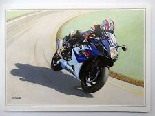 Nostalgic Suzuki GSX R1000 K/6 Motorbike Racing Design Open Blank Birthday Card
