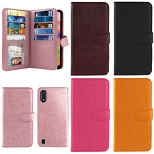 """For Samsung Galaxy A01 5.7"""" 2019 Flip Wallet Card Holder TPU Silicone Case Cover"""