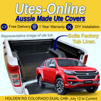 Checker Plate Rubber Mat For HOLDEN RG COLORADO DUAL CAB UTE Truck (Yr: 2012+)