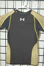 Boys Under Armour NFL Black HeatGear Performance Fitted T-Shirt, M