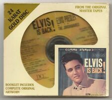 "ELVIS PRESLEY CD ""ELVIS IS BACK!"" 1997 USA BMG 24 KARAT GOLD DISC STEVE HOFFMAN"
