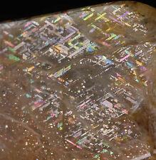 3.7cm RAINBOW LATTICE SUNSTONE from Australia - Beautiful Rare New Find 36548