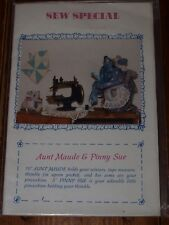 "Sew Special - 10"" Aunt Maude & 5"" Pinny Sue - Stuffed Mouse Craft Pattern"