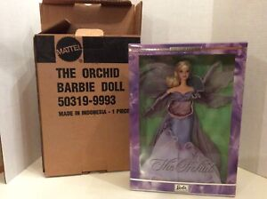 2000 THE ORCHID BARBIE DOLL FLOWERS IN FASHION LIMITED EDITION - NIB
