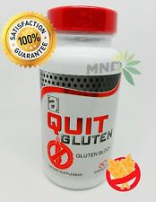 Quit Gluten Block Off 60 capsules  Dietary Supplement Easy Digestion Bacterium