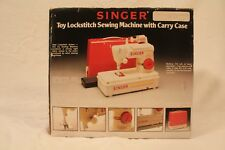 Vintage Toy Singer Lockstitch Sewing Machine Original Box, Case, Manual