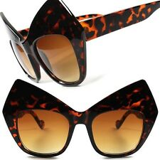 Funky Vintage Retro Fashion Party Women Tortoise Cat Eye Oversized Sunglasses G2