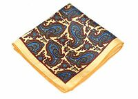 Lord R Colton Masterworks Pocket Square - Prague Yellow Silk - $75 Retail New