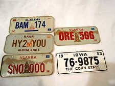 5-Wheaties Cereal Promotional Bicycle License Plates 1953/1979/1980/1981