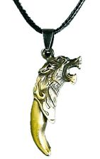 BUTW- Stainless Steel Wolf Claw Tooth Necklace Pendant 5459K