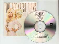CHER & LADY GAGA - THE GREATEST THING - RARE 5 REMIX NEW CD PROMO