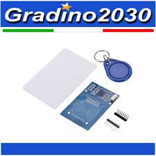 MODULO LETTORE RC522 RFID MIFARE CON TAG CARD E TAG PORTACHIAVE ARDUINO