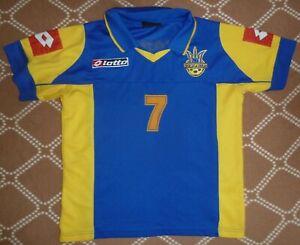 shirt jersey Ukraine 2002 2003 2004 Shevchenko #7 home ,LB Lotto vintage
