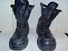 Black Leather Speedlace Military Combat Boots steel toe size 15r