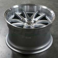 AODHAN DS02 18x10.5 5x114.3 +15 Silver Machined Face Wheels 18 Inch Rims Set 4