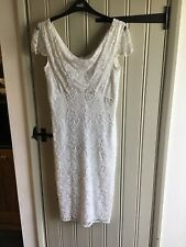 Beautiful beaded short ivory wedding dress - Size 8-10 BNWT