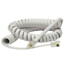 RJ10 to RJ10 Cable For Telephone Handset Coiled Curly Lead Cord Wire – WHITE