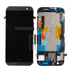 HTC ONE M8 Gray LCD display Touch Screen Digitizer & Frame Assembly Replacement