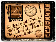 Baseball metal sign great gift sports cards art / vintage style mancave decor317