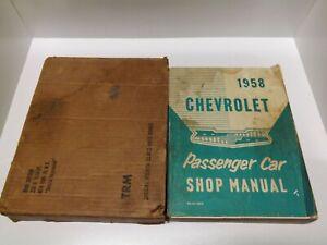 Factory 1958 Chevrolet Passenger Car Shop Manual (In Box) RS-62-S&M