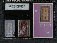 Starcraft Bridge Set Gift Pack 2 decks of cards pencil tally sheets in box unuse