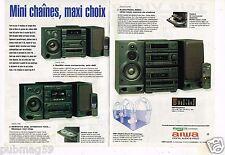 Publicité Advertising 1993 (2 pages) Chaine Hi-Fi Aiwa