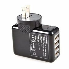 Black 4 Port USB Home Travel Wall Charger AC power adapter With US Plug 2.1A#2