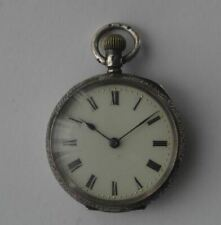 NICE, GOOD QUALITY, ANTIQUE, SWISS MADE by OMEGA, SILVER FOB POCKET WATCH