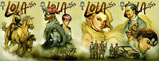 Lola XOXO #4A-D Complete Connecting Set Aspen Comics 9.4 NM Siya Oum
