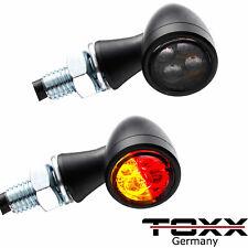 ToXx Led 3in1 Rücklicht Blinker Zero schwarz getönt universal Motorrad Quad 12V