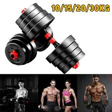 New Black Adjustable Weight Dumbbells Set Weights Fitness Gym Exercise 10kg-30kg