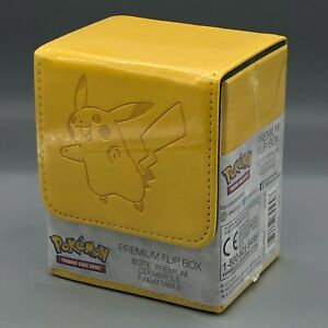 ULTRA PRO - Pokemon - Pikachu Premium Leather Flip Box - CCG Deck Box.