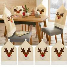 Elastic Cloth Stool Decoration Chair Cover Non-woven Elk Christmas Ornament W