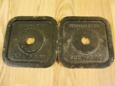 (2) Ironmaster Quick Lock 5 lb Replacement Weight Plate 2 x 5 lbs dumbbell
