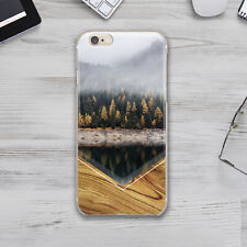 Autumn Wood Art iPhone XS Max XR Silicone Cover Case Apple iPhone 7 8 Plus X 11