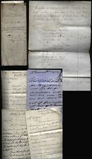 1853-57 CHESTER FARM / LAND OF LORD HARRINGTON, COLLECTION OF DOCUMENT & LETTERS